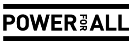 Power for all charity logo